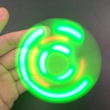Fashion fidget spinner + Bluetooth Speaker LED toy tri figit EDC Hand Spinner anti stress Fluorescent For adult Kids funny 2017