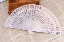150Pcs Free Shipping Chinese Japanese Sandalwood Folding Hand Fan Personalized Wedding Favor And Gift For Guests+Customized Logo