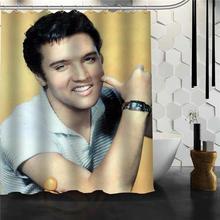 Custom Elvis Presley Shower Curtain Bath Waterproof Fabric For Bathroom MORE SIZE 165X180cm180X200cm
