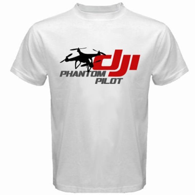 Phantom Pilot DJI Drone Fashion Mens t shirt New Summer Shorts Top Fashion Design Printed 100% Cotton O-neck Tee Shirt S-2XL