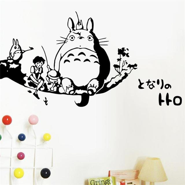 Classic cartoon my neighbor totoro home decor wall sticker for kids girls room decoration mural art