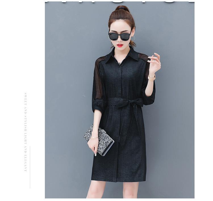 Dress female spring and autumn 2019 new fashion commuter slim strapless denim dress tide vestido Q280 23