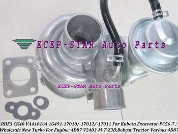 RHF3 CK40 1G491-17011 1G491-17012 1G491-17010 Turbo Turbocharger For Kubota Excavator PC56-7 bobcat Tractor 4D87 V2403-M-T-Z3B
