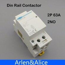TOCT1 2P 63A 220V/230V 50/60HZ Din rail Household ac Modular contactor  2NO or 2NC or 1NO 1NC