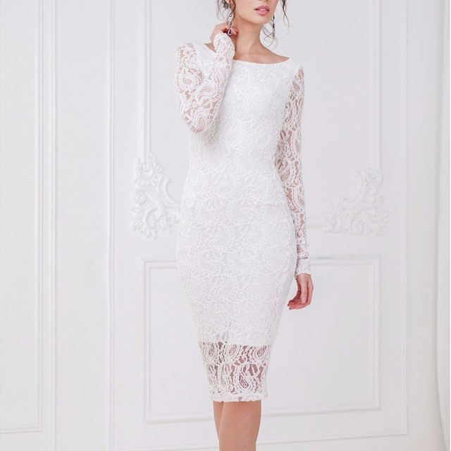 907db10c562c2 MUXU white lace dress bodycon pencil dress long sleeve kleider vestidos  sukienka streetwear vestido de renda vetements kleid