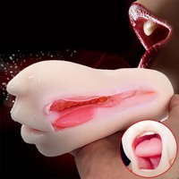 Mizzzee oral sex toys para homens, blow job deep throat boca, homem masturbators, pocket cona stroker, adulto produtos do sexo, vagina de verdade