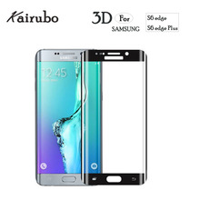 9H 3D Curved Surface Full Screen Cover Explosion-proof Tempered Glass Film for Samsung Galaxy S6 edge Protector 50PCS/LOT