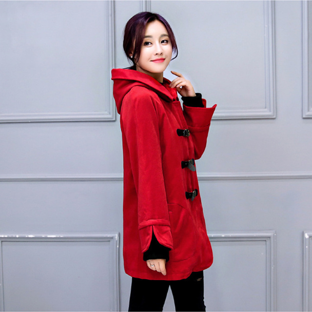 Han edition cotton   cloth  woman  coat dust coat