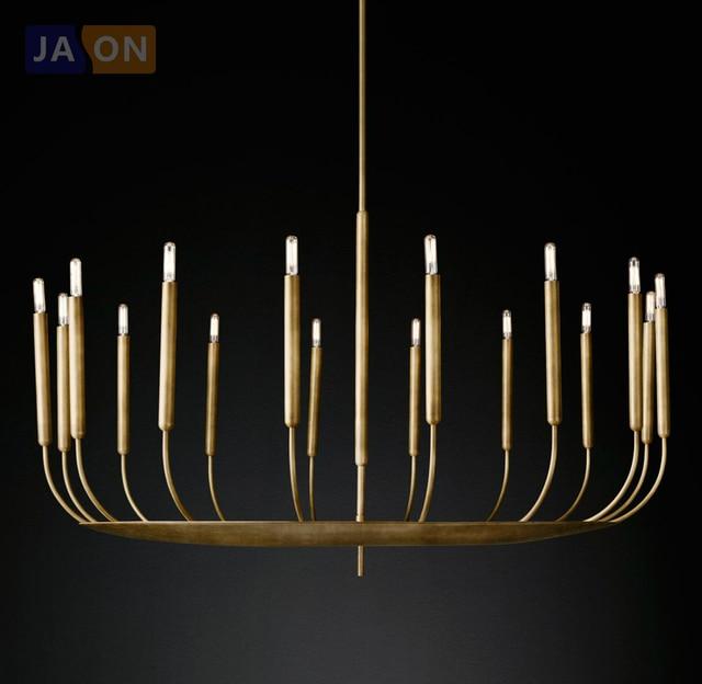 FÜHRTE American Vintage Eisen Kerze Angepasst FÜHRTE Lampe LED-Licht. Pendelleuchten. Pendelleuchte. pendelleuchte Für Esszimmer