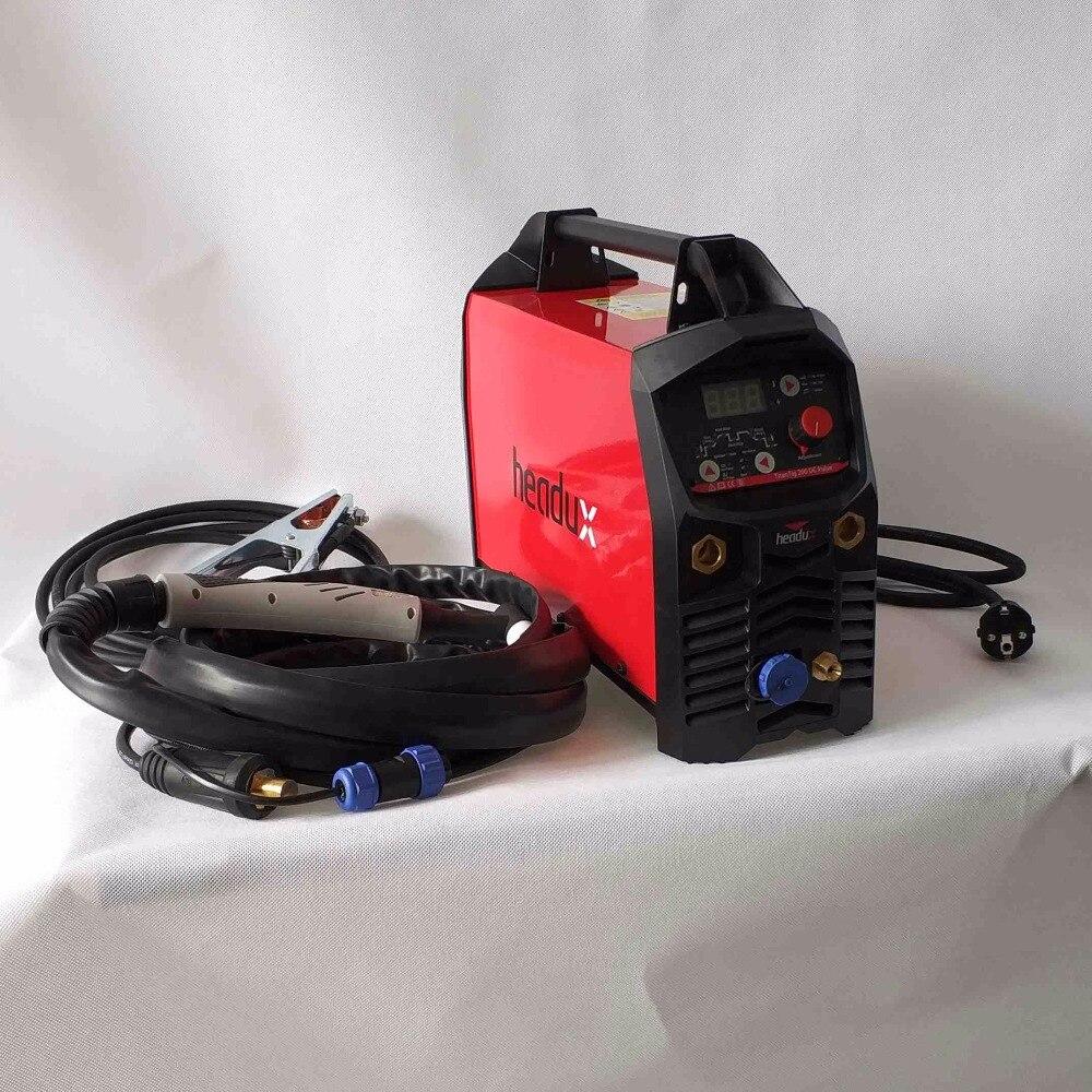 Máquina de soldadura de pulso TIG 200A Digital profesional equipo de soldador de encendido en caliente HF antiadherente Arc-Force CE IGBT inversor