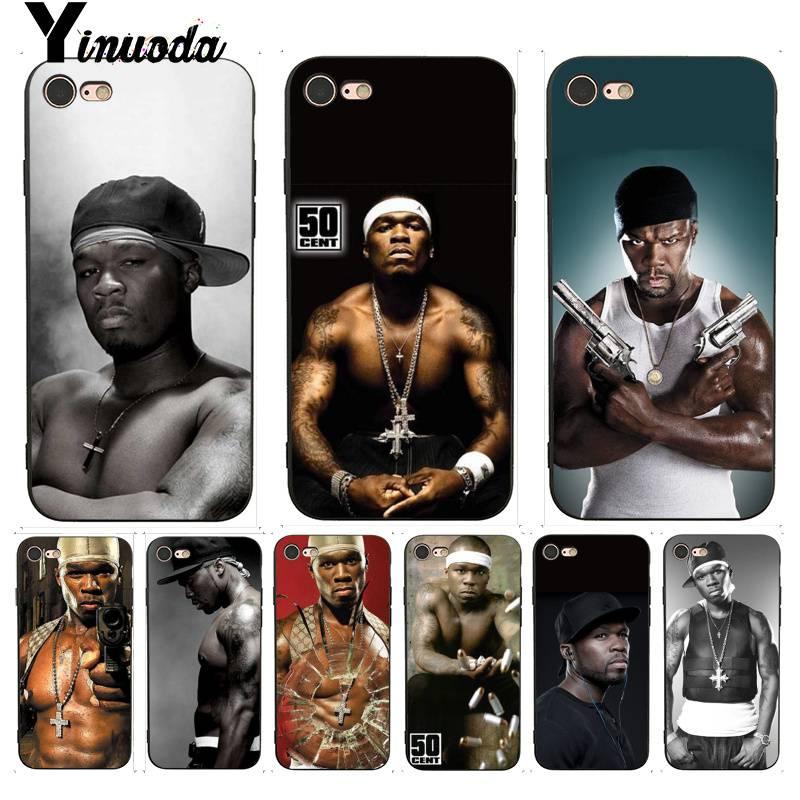Yinuoda para iphone 7 6 x caso 50 cent design superior caso do telefone para o iphone 7 6x8 6s plus 5 5S se xr xs xsmax caso