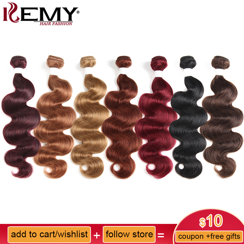 Black Brown Red Color Body Wave Human Hair Weaves Bundle 8 To 26 Inch 100% Brazilian Remy Hair Extensions Can Buy 2 Or 3 Pcs
