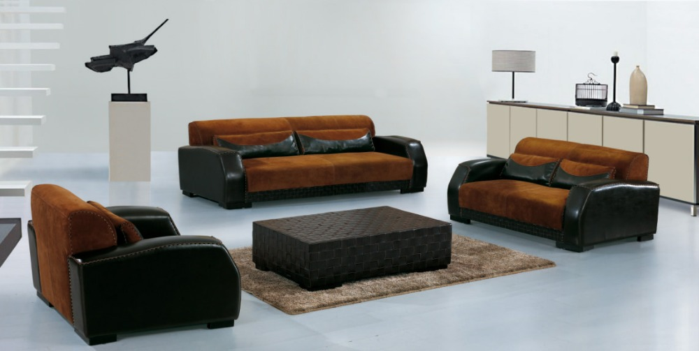 Cow Genuine Real Leather Sofa Set Living Room Sectional Corner Home Furniture Couch Modern 1 2 3 Seater In Sofas From On