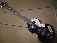 Free Shipping Hofner 4 string bass guitar Violin Bass guitar In Black 110120