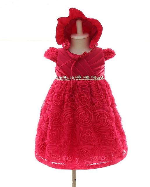 Высокое качество Нового девочки dress Новорожденных Рождество платья Детские Атласная Партия Цветочница Крещение Платье vestidos де феста