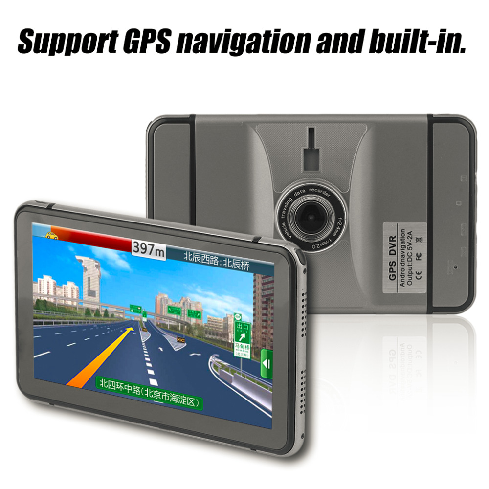 Automobile Car 800*480 Pixel GPS Navigation DVR Rear View Manually 350 Degree Rotation Navigator портативный gps навигатор lk navigation e18 gps
