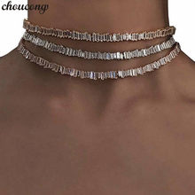 choucong Handmade Baguette Necklace AAAAA Cz White Gold Filled Party Wedding Necklaces for women Statement jewelry Gift(China)