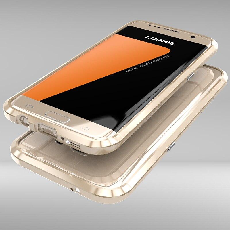 imágenes para La sfor Samsung Galaxy Caso S7 S7 Borde Caso Luphie Original de Lujo Marco de Metal Fundas Coque de Parachoques Del Teléfono Carcasas Para Samsung S7 Borde