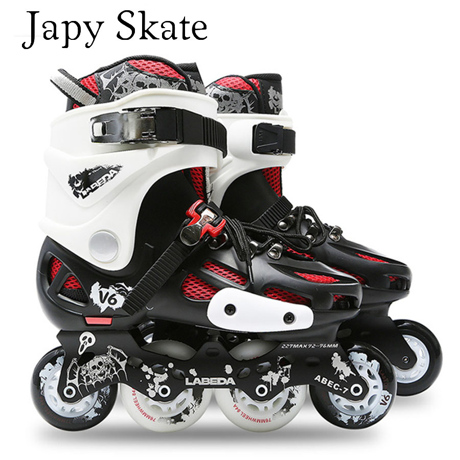 Black White Rollerblade NJ Team Aggressive Inline Skates