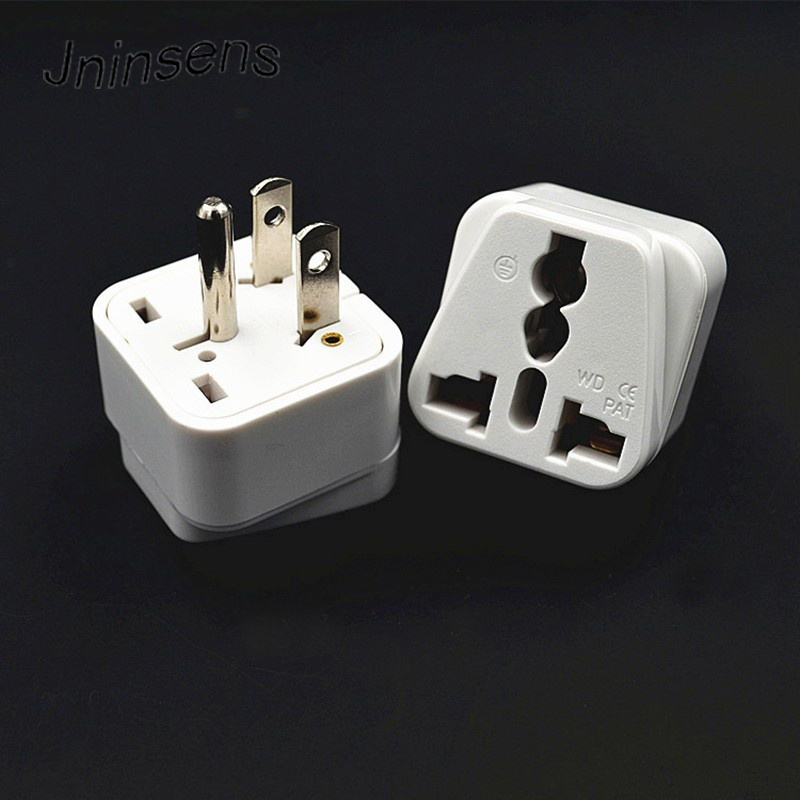 Promotion !! White Universal AC Travel Power Plug Adapter EU EURO UK AU To US Adaptor Converter for Home Travel Use