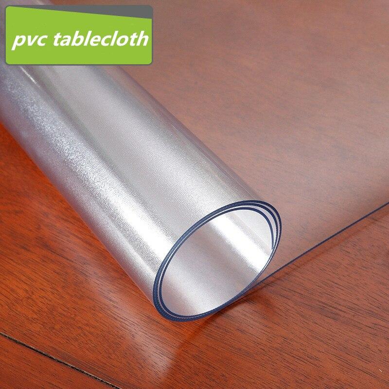 Новый 1,5 мм толщины матовый Нескользящая пластиковая скатерть водонепроницаемый термостойкие ПВХ покрытие стола Мягкий стеклянный журнал...
