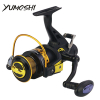 YUMOSHI Fishing Reels KV3000/4000/5000/6000/7000/8000 Metal Head Spinning Reels 13+1BB Back Brake Spinning Carp Front Rear Pesca