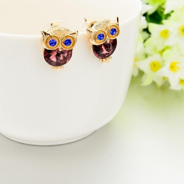 Купить toucheart новые брендовые серьги с кристаллами в виде совы для картинки