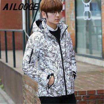 4814fe4160513 2016 nouvelle haute qualité mode hommes Homme vêtements de sortie d hiver à  capuche décontracté veste en duvet d oie manteau court 3 couleur