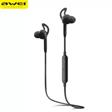 AWEI A610BL Sport Bluetooth Earphone Dual Stereo In Ear Earphones with Microphone Waterproof Wireless Mini Earbuds awei g20bl magnetic bluetooth earphone cnc metal dual driver earphones wireless sport running bluetooth4 2 earphone