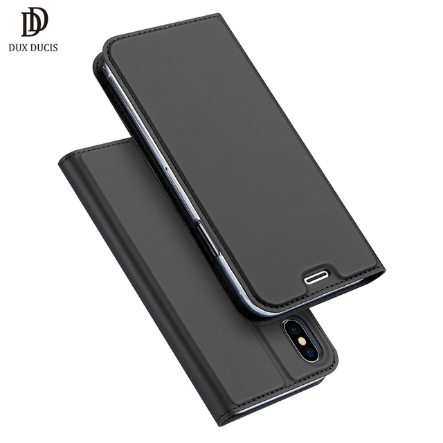 Dux Ducis Brand For iPhone X Case Luxury PU Leather Flip Cover Phone Cases For iPhoneX-in Flip