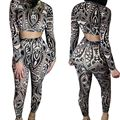 2016 New Sexy Night Club Jumpsuits High Quality  Elastic Queen Brown Skin Brilliant Mini  Separate Up And Down Jumpsuits BLM05