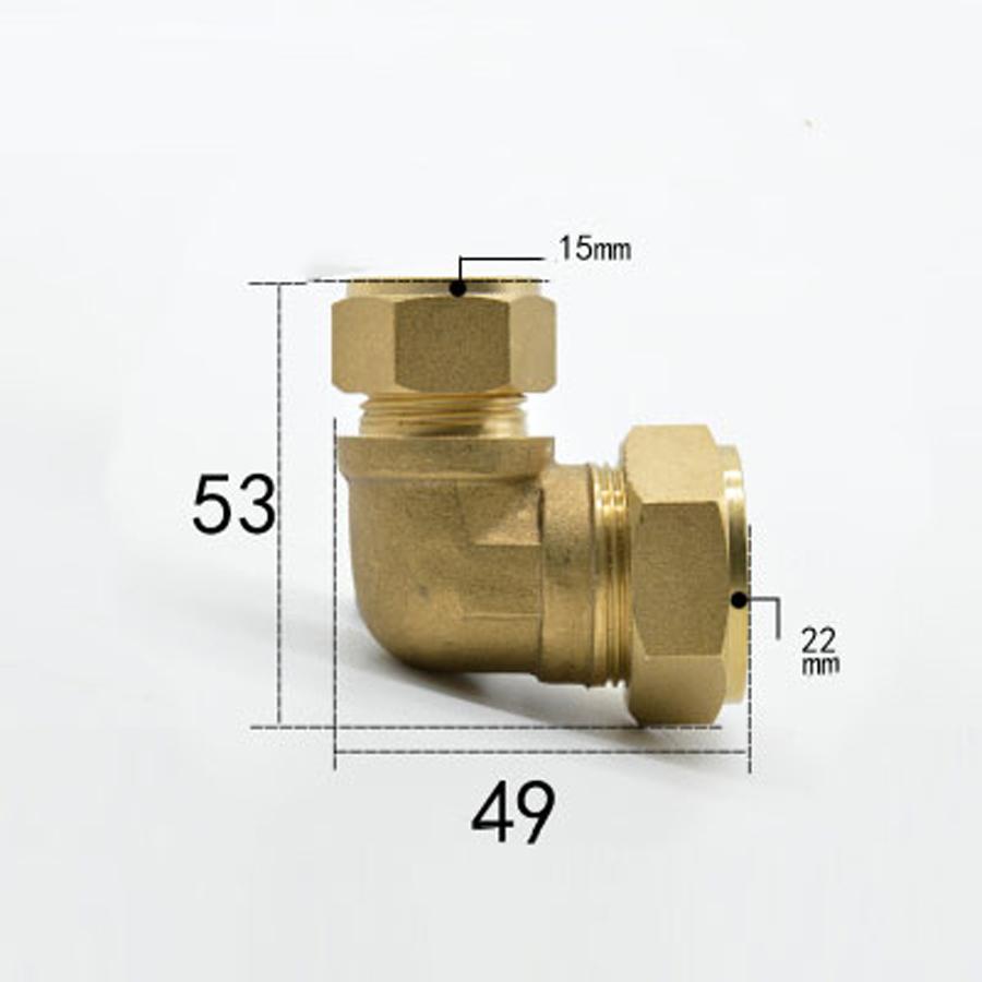 /1//2/ /ajuste de compresi/ón Codo 16/mm/ hembra chapado en pared/