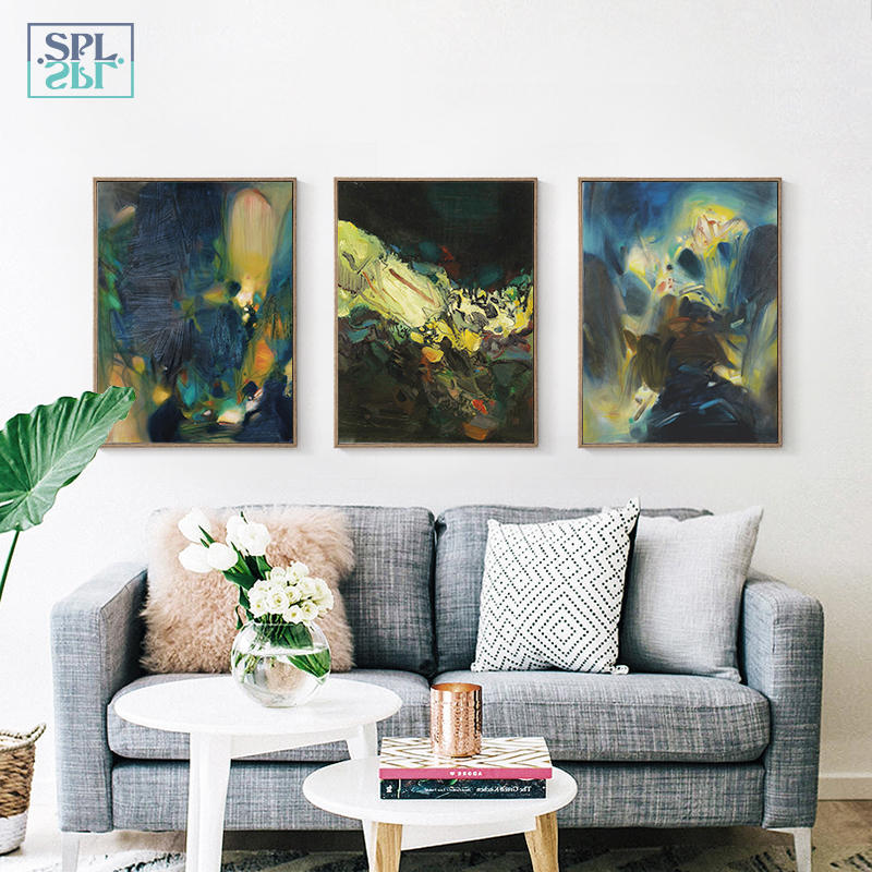 SPLSPL Abstract Art Posters And Prints Wall Art Canvas Painting Wall Pictures Nordic Abstract Picture Decoration Home Ornaments