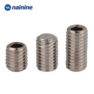 Image 4 - DIN913 [M2 M12] 304ステンレス鋼糸フラットポイント止めねじ六角ソケット固定ネジはA070