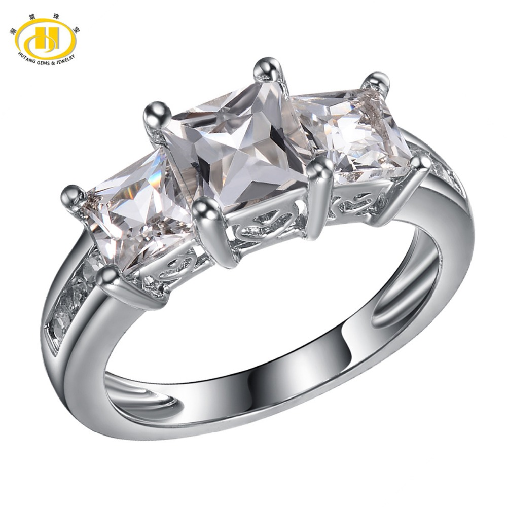 Hutang Natural White Topaz Solid 925 Sterling Silver Ring Engagement Fine Stone Jewelry For Womens Gift New ArrivalHutang Natural White Topaz Solid 925 Sterling Silver Ring Engagement Fine Stone Jewelry For Womens Gift New Arrival