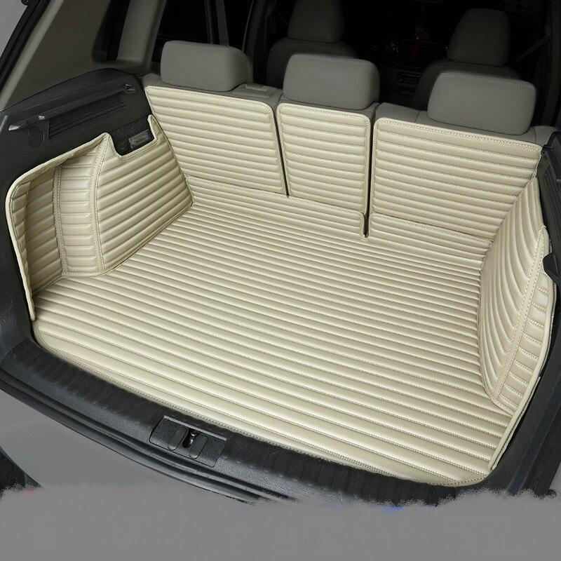 Полностью Покрытые водонепроницаемые ковры для ботинок прочные специальные автомобильные коврики для багажника Lincoln MKX MKZ MKS MKC MKT навигатор Континентальный - Название цвета: Бежевый