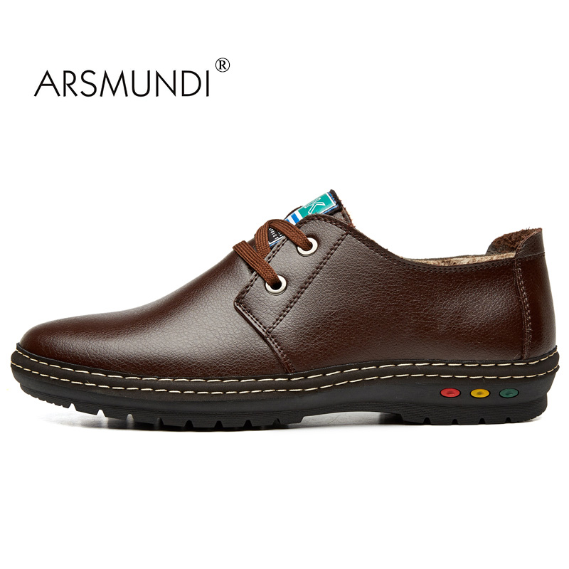 ARSMUNDI Original Men Casual Shoes Fall 2017 Breathable Men Casual Shoes Lace-up Comfortable Fashion Business Casual Flats Shoe micro micro 2017 men casual shoes comfortable spring fashion breathable white shoes swallow pattern microfiber shoe yj a081