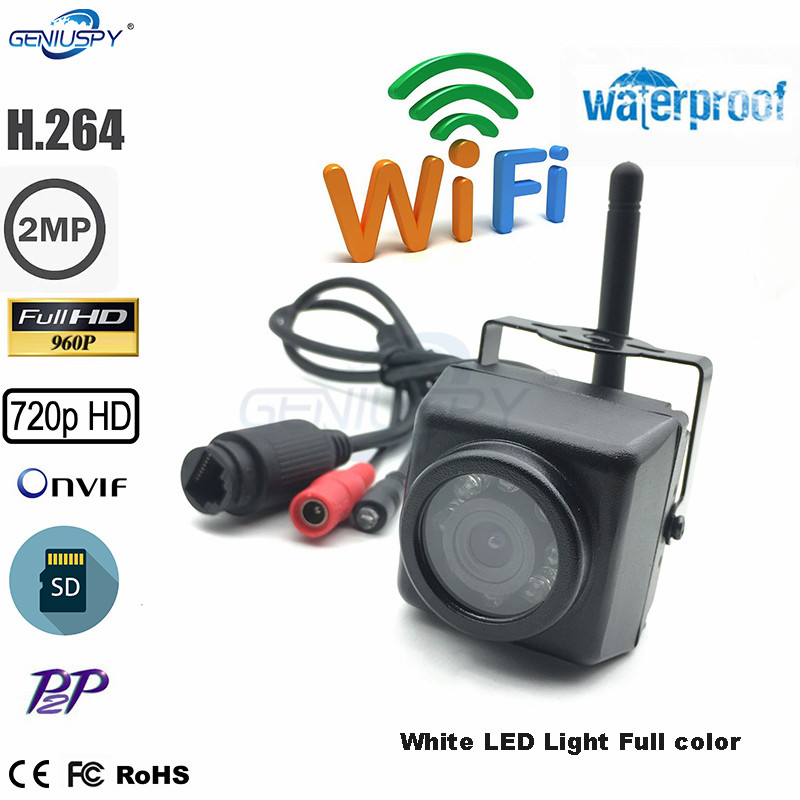 White Led Light 720P 960P 1080P Color Night Vision Outdoor Mini Wifi Ip Camera Waterproof SD Card Recording Camhi For IndustryWhite Led Light 720P 960P 1080P Color Night Vision Outdoor Mini Wifi Ip Camera Waterproof SD Card Recording Camhi For Industry