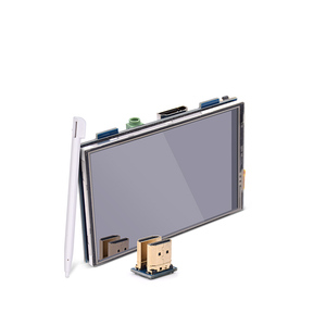 Image 1 - 3.5 pollici LCD HDMI USB Dello Schermo di Tocco Reale di HD 1920x1080 Display LCD per Raspberry 3/2/B +/B/A +