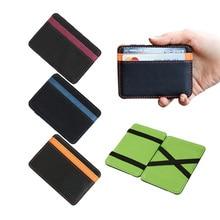 2018 новый бренд мужской кожаный волшебный кошелек Зажимы для денег случайные клатч автобус карты мешок для женщин 10*7*0,8 см человек кошелек