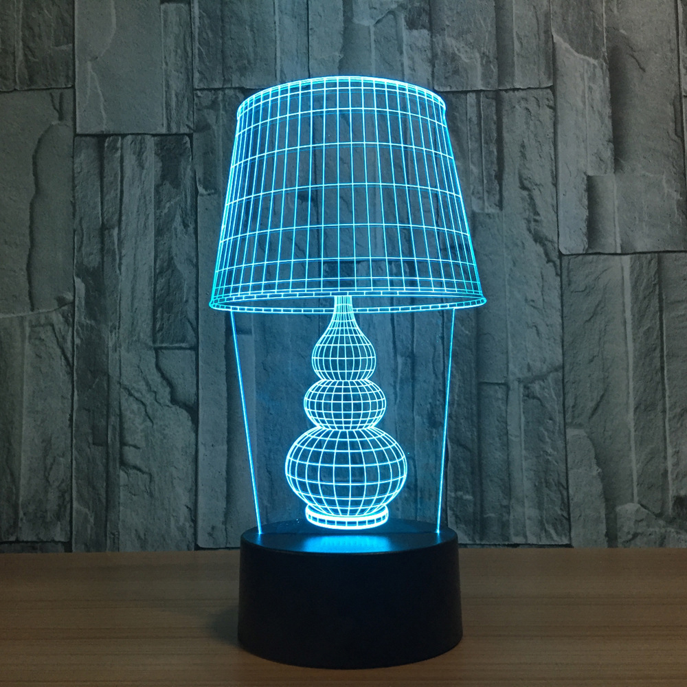 7 Colors Change 3D Night Light Classical Desk Lamp Modeling LED Baby Sleep Lighting Xmas Gifts Home Decor Bedroom Bedside Lamp