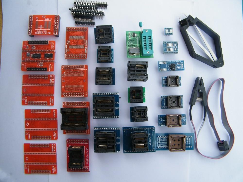 все цены на Free Shipping! Full universal adapters 28pcs for MiniPro TL866CS&TL866A&TL866II Plus USB Universal Bios Programmer онлайн