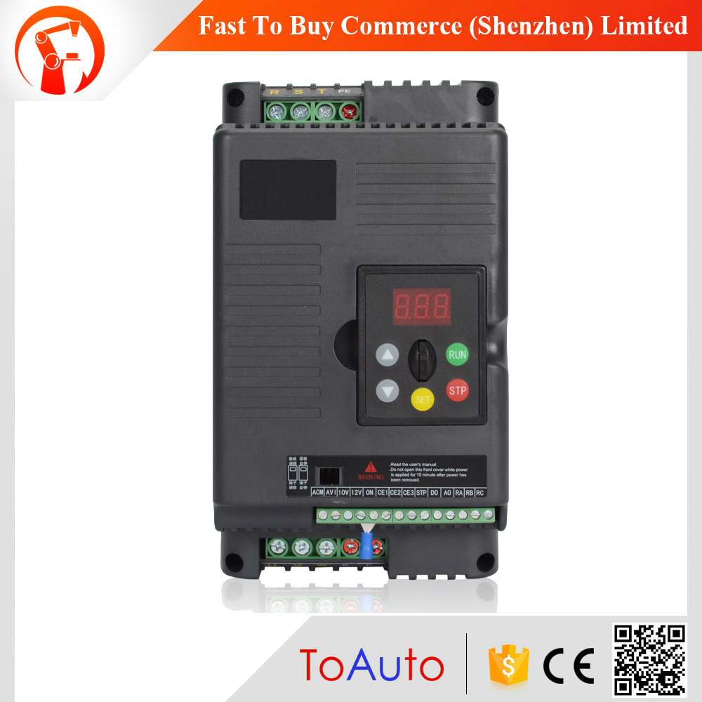 Frequency Inverter 15KW VFD 20HP 3Ph Speed control Output 380V 32A  500Hz Motor Drive VFD for Lathe 3 Phase Asynchronous Motor