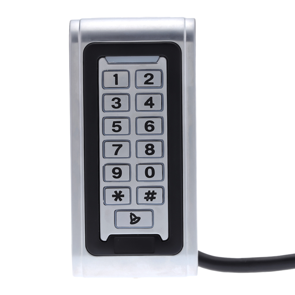 RFID Proximity Entry Lock Door Access Control System Waterproof 125Khz EM ID Smart Card Backlight Metal Shell Access Controller lpsecurity 125khz id em or 13 56mhz rfid metal door lock access controller with digital backlit keypad ip65 waterproof