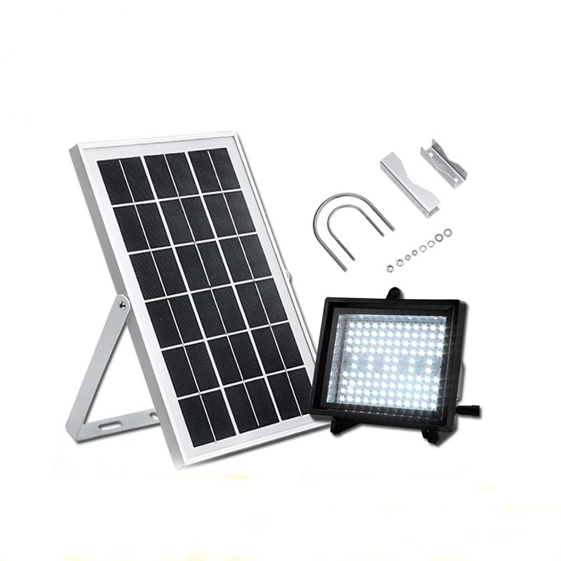 Solar street lamps Outdoor highlight landscape garden light 108 led floodlight system upgrade model