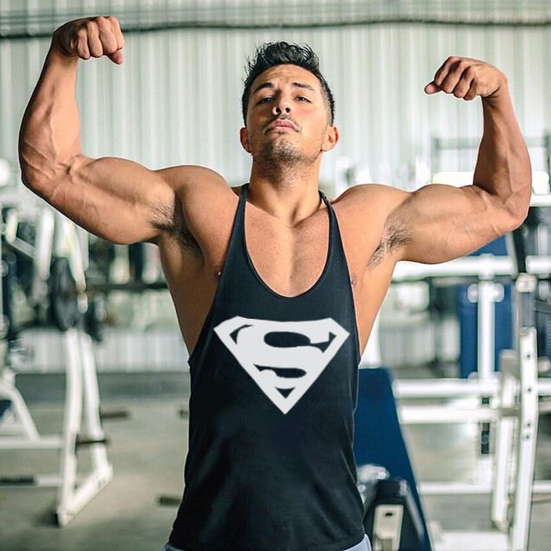 2018 New Arrivals Bodybuilding Stringer   Tank     Top   Superman Gyms Men Fitness Vest Singlets Workout Clothing Multi Colors
