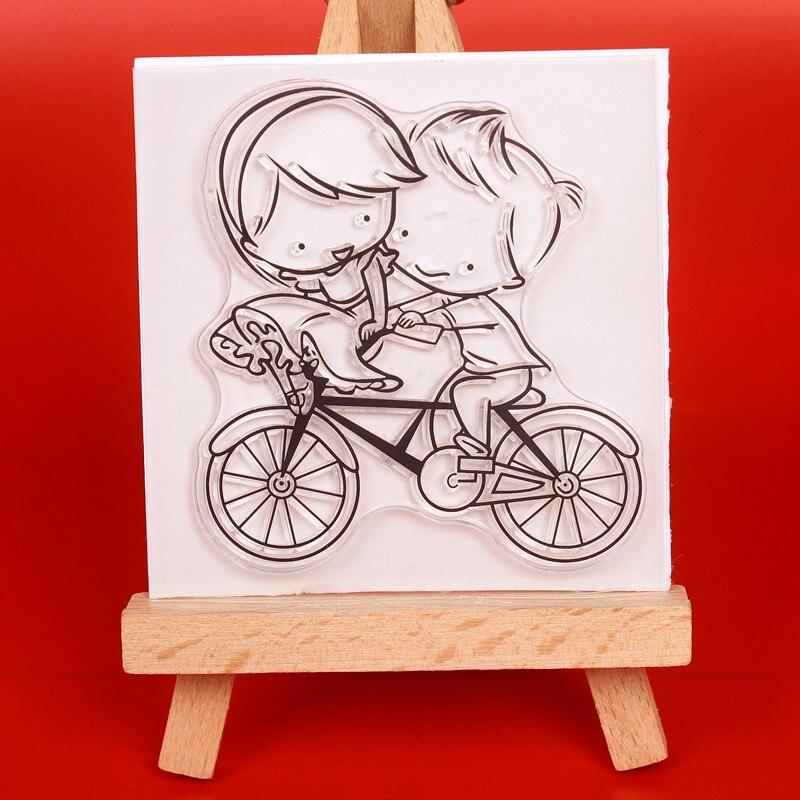 Kerékpáros pár Fémvágás Dies és bélyegek DIY Scrapbooking - Művészet, kézművesség és varrás