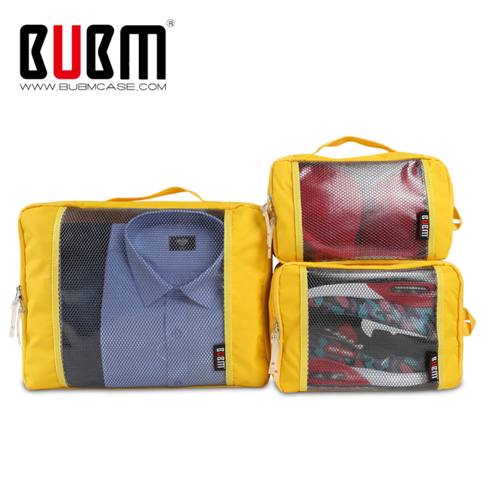 Travel Luggage Organiser Us 26 24 15 Off Aliexpress Buy Bubm 3 Sets Packing Cubes For Travel Luggage Organizer Pouch Home Storage Organiser For Clothing Laundry Bag