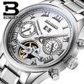 Switzerland BINGER watches men luxury brand Tourbillon sapphire luminous multiple functions Mechanical Wristwatches B8602