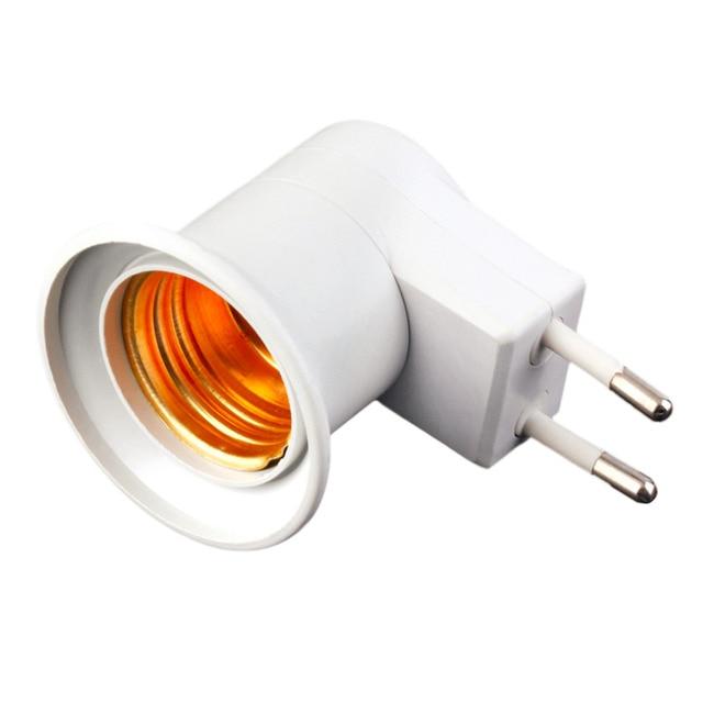 E27 Lamp Holder Lightweight Lamp Light Wall Socket E27 Socket Lamp Base US/EU Plug to E27 Adapter With Power on/off Switch